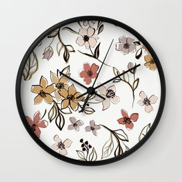 Artistic Graphic Floral  Wall Clock