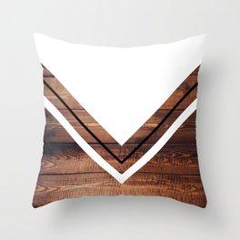 White & Wood Throw Pillow