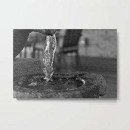 Liquid Falls Metal Print