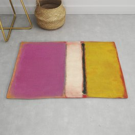 White Center (Yellow, Pink and Lavender on Rose) - Mark Rothko Rug