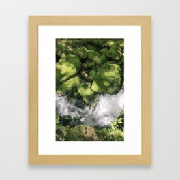 Feel the Wetness in the Air Framed Art Print