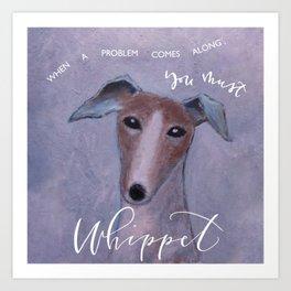 Whippet Good Art Print