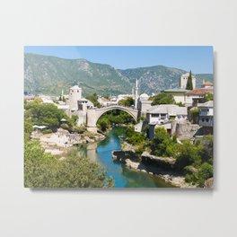 Summer in Mostar Metal Print