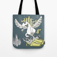 backpack Tote Bags featuring Magical Mystery Backpack by Amy Gale