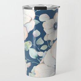 Summer Flowers Blue #society6 #buyart Travel Mug