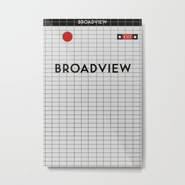 BROADVIEW | Subway Station Metal Print