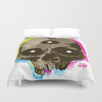 third eye Duvet Covers featuring Third Eye by triplesnake