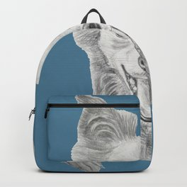 Hello there! - Happy cute dog / puppy smiling drawing graphite Backpack