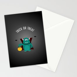 TRICK OR TREAT MONSTER Stationery Cards