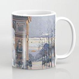 Arc de Triomphe, Paris, France by Eugene Galien Laloue Coffee Mug