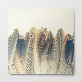 Feather Dip Metal Print