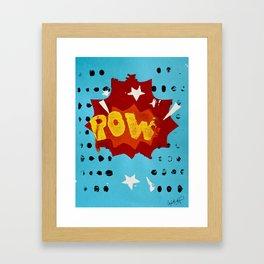 Pow Printwork Framed Art Print