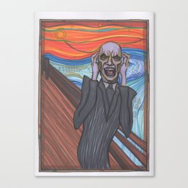 The Scream (Hush Gentleman from Buffy) Canvas Print