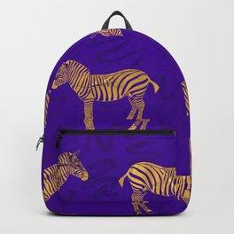 Zebra Violet pattern Backpack