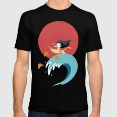 The Wave Black MEDIUM Mens Fitted Tee