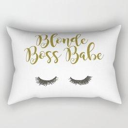 Blonde Boss Babe Rectangular Pillow