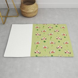 donkeys and cactuses Rug