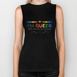 I'm Queer And I Support LGBTIQ Biker Tank