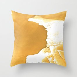 Sandy brown Throw Pillow