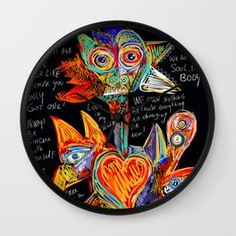 Live your dreams Street Art Graffiti African Wall Clock