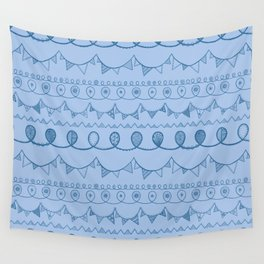 Blue Loops Wall Tapestry