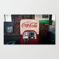 coca cola Canvas Prints featuring Coca Cola by Bust it Away Photography