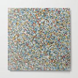 Square Mosaic Multi-coloured Tile Pattern (Vector Illustration) Metal Print