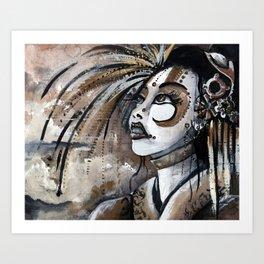 Geisha in Steam: The Hopefull Concubine Art Print