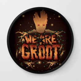 We Are Groot Wall Clock