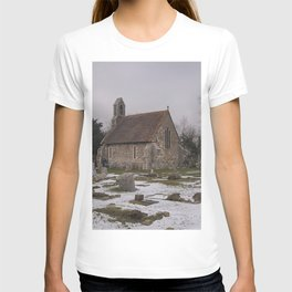 Seasalter Old Church In Winter T-shirt