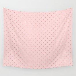 Small Two Tone Blush Pink Polka Dot Spots Wall Tapestry