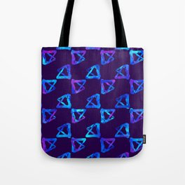 Blue brush watercolor cool print Tote Bag