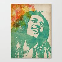 reggae Canvas Prints featuring reggae poster by Fan Prints