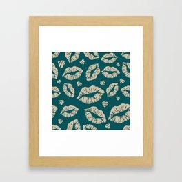 Kisses & more Kisses Framed Art Print