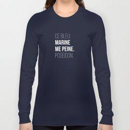 Bleu Marine Long Sleeve T-shirt