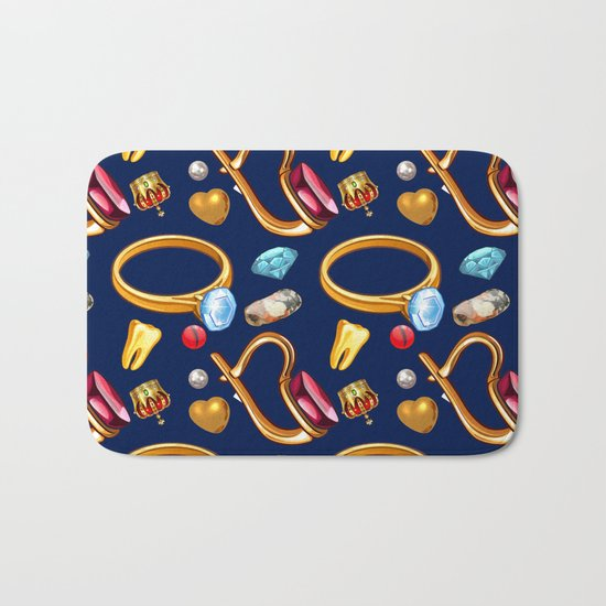 gold party Bath Mat