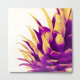 Pineapple Color Pop Metal Print