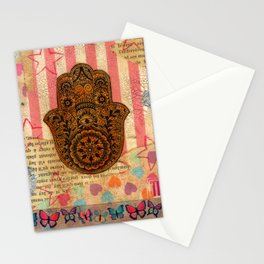 Hearts and Butterfly Hamsa Stationery Cards