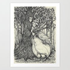 The Princess and her Tree Art Print