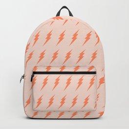 Lightning bolt pattern pink and orange Backpack