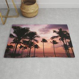 Palm Tree Sunset Rug