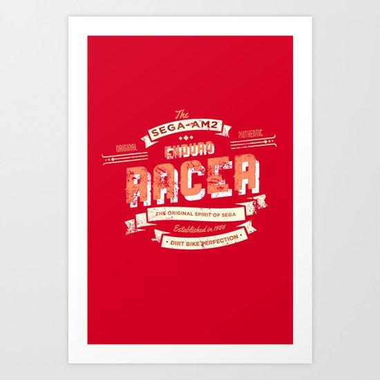 Enduro Racer Art Print