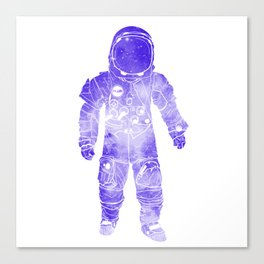 Rave Invaders PLUR Space Force Astronaut Canvas Print