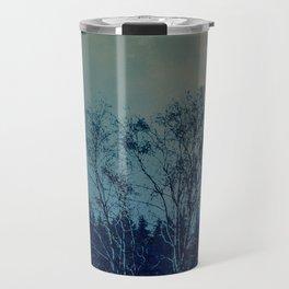 Concept landscape : Moon behind the tree Travel Mug