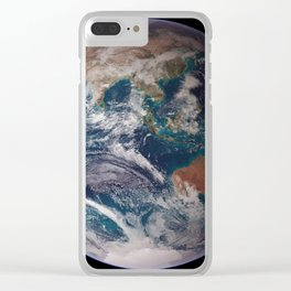 Earth : The Blue Marble Clear iPhone Case