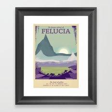 Retro Travel Poster Series - Star Wars - Felucia Framed Art Print