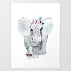 Friendship Elephant Art Print
