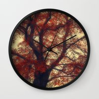 copper Wall Clocks featuring Copper Beech by Dirk Wuestenhagen Imagery