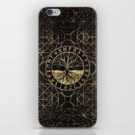 Tree of life  -Yggdrasil and  Runes iPhone Skin
