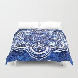 Mandala Blue Colorburst Duvet Cover